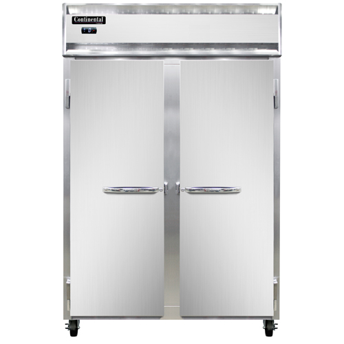 """Continental Refrigerator 2F 52"""" W Two-Section Solid Door Reach-In Freezer"""