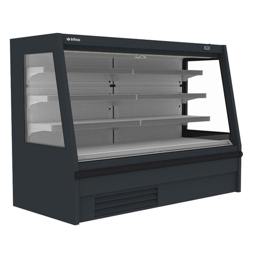 """Infrico USA IAG-SML12M1 52.34""""W Low Profile Air Curtain Refrigerated Open Merchandiser"""