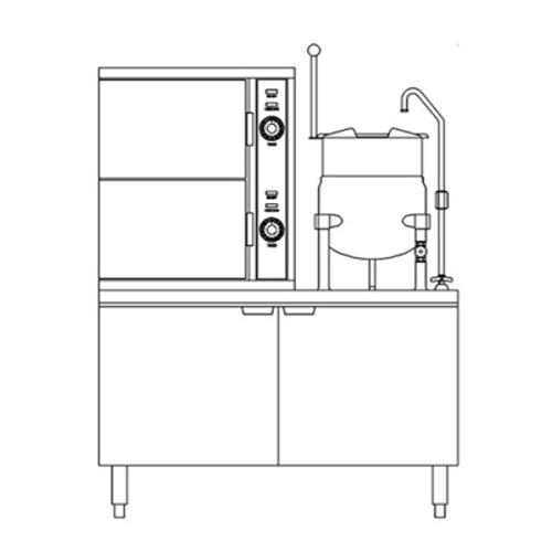 Crown SCX-2-6-10 6 Gallon Steam Coil Convection Steamer/Kettle