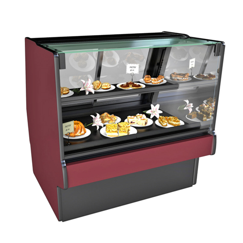 """Structural Concepts GMDSV4D 51""""W Straight Glass Fusion Non-Refrigerated Service Case"""