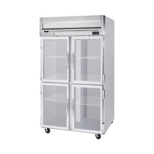 """Beverage Air HRP2-1HG 52"""" W Two-Section Glass Door Reach-In Horizon Series Refrigerator"""