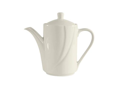 Tuxton ASU-102 China Coffee Pot/Teapot 18 - 26 Oz. Pearl White - 4 Dozen Per Case