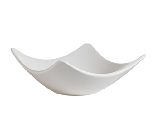 CAC China SHA-H10  Porcelain  Bone White  Square  Accessories Bowl