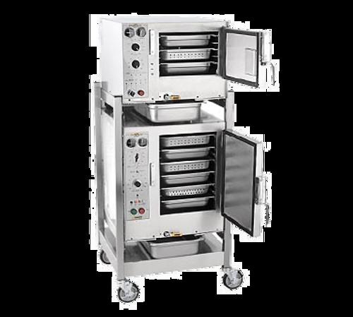 AccuTemp S3/S62403D110 2 Pan Electric Boilerless Convection Steamer - (2) 240V