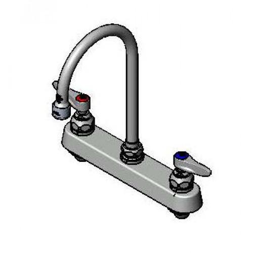 "T&S Brass B-1142-VF05 Workboard Mixing Faucet deck mount 8"""