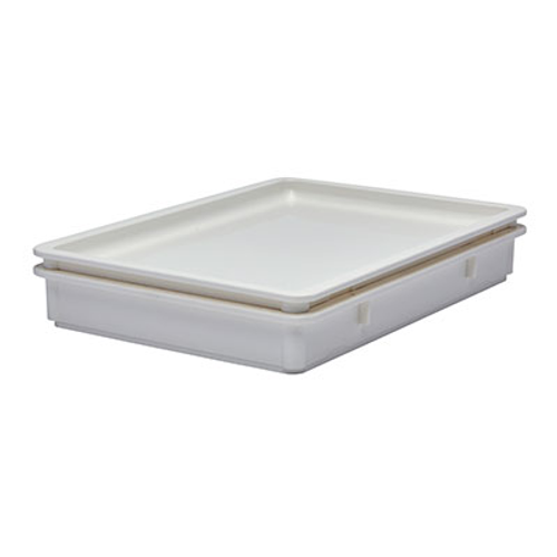 """Cambro DB18263P148 26""""W White Polypropylene Pizza Dough Box - 6 Each/Case"""