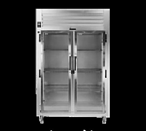 "Traulsen Rht232Wut-Hhg 58"" W Two-Section Glass Door Reach-In Spec-Line Refrigerator"