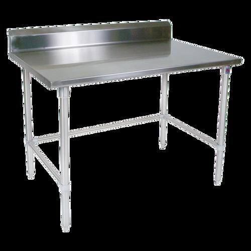 "John Boos ST6R5-3072SBK 72""W x 30""D Stainless Steel Work Table Backsplash"
