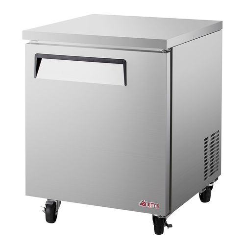 """Turbo Air EUF-28-N 27.5""""W One-Section Solid Door E-line Undercounter Freezer"""