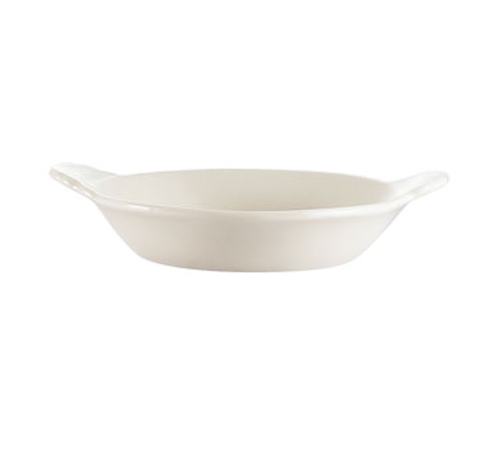 CAC China EGD-8  8 oz  Ceramic  Bone White  Oval  Egg Dish
