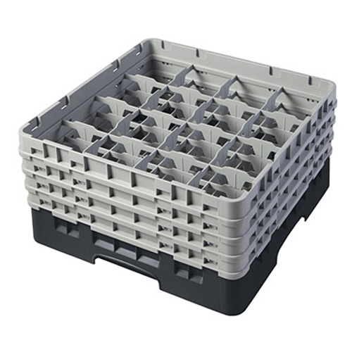 Cambro 16S800110 Camrack Glass Rack With (4) Soft Gray Extenders