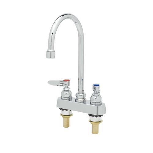 """T&S Brass B-1141-XS-F12 Workboard Faucet deck mount 4"""""""