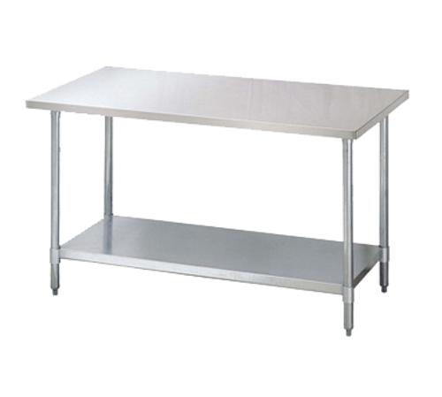 """Turbo Air TSW-3096SB 96""""W x 30""""D Stainless Steel Flat Top Work Table"""