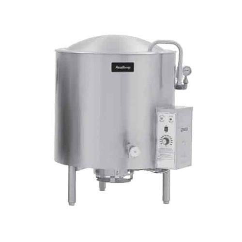 AccuTemp ALLGB-125MV-LP 125 Gallon 2/3 Jacket Liquid Propane Stationary Kettle/Mixer - 154,800 BTU