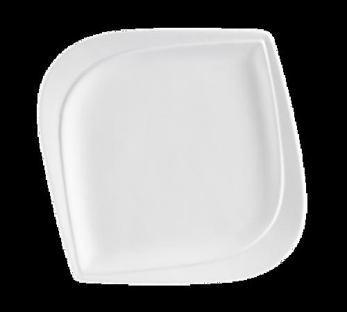 CAC China ASP-8  Porcelain  Bone White  Square  Aspen Tree Plate