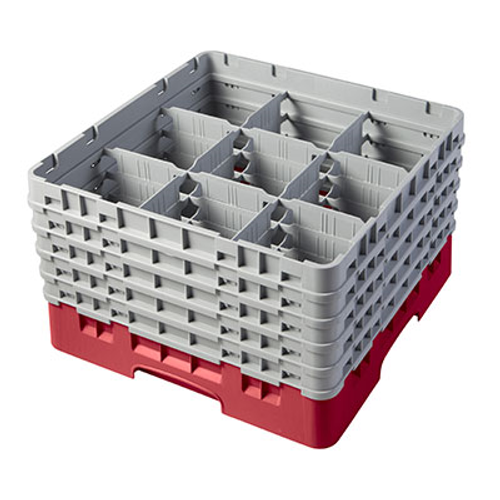Cambro 9S958163 Camrack Glass Rack With (5) Soft Gray Extenders