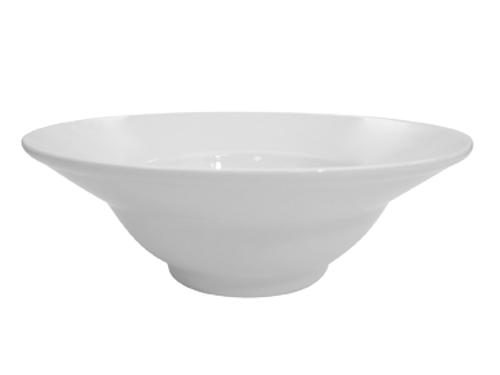 """CAC China MXB-12  12""""  56 oz  Porcelain  Super White  Round  Catering Collection Mix Bowl"""