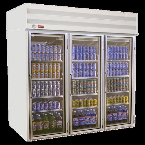 """Howard McCray GF75-LT 78""""W Three-Section Glass Door Low Temp Freezer Merchandiser"""
