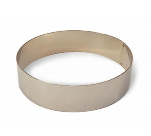 "Matfer Bourgeat 371804 7-1/8"" ID x 2-3/8""H Stainless Steel Round Ice Cream/Cake Ring"