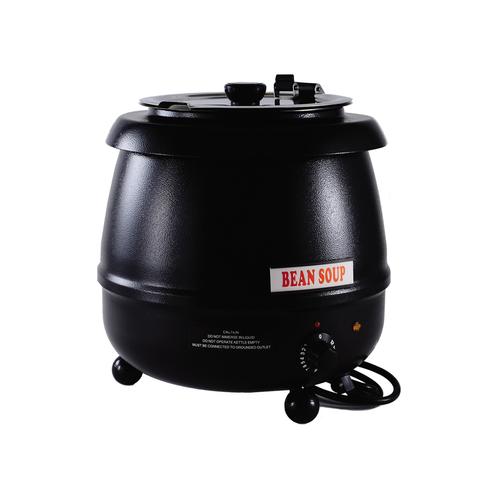 CACChina ELSW-100K Soup Warmer 10.5 Qt.110-120v 400 Watts Black Finish