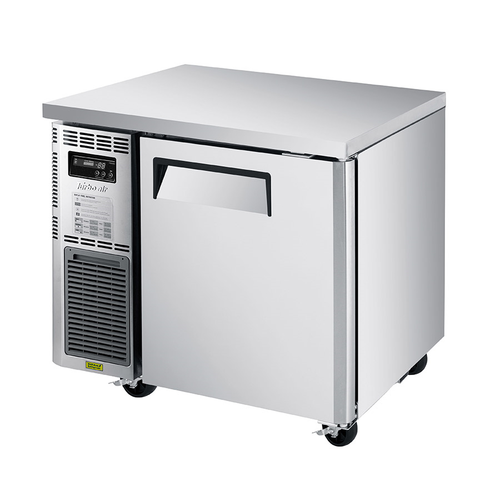 """Turbo Air JUF-36S-N 35.38""""W One-Section Stainless Steel Door J Series Side Mount Undercounter Freezer"""