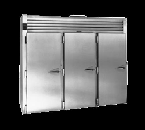 "Traulsen RRI332LUT-FHS 100.5"" W Three-Section Solid Door Roll-In Spec-Line Refrigerator"