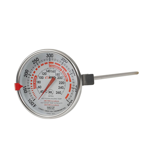 """Winco TMT-CDF5 12"""" Candy/Deep Fry Thermometer"""