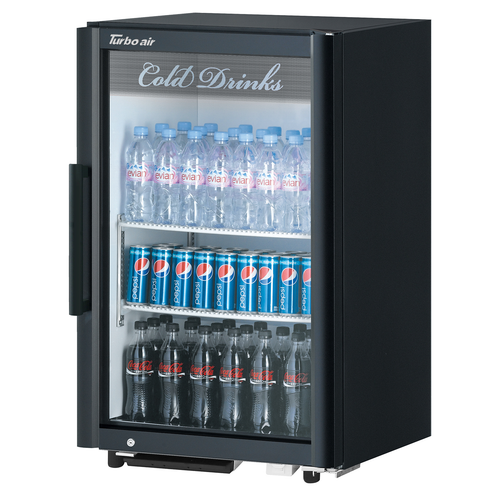 """Turbo Air TGM-7SD-N6 25""""W One-Section Glass Door Super Deluxe Refrigerated Merchandiser"""