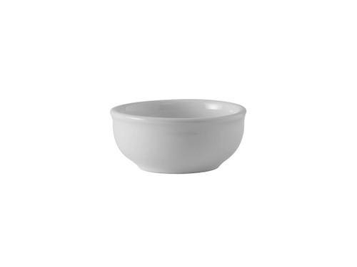 """Tuxton BWB-050E  3-7/8""""  5 Oz.  Ceramic  White  Round  Sauce/Salsa Dish"""