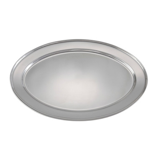 Winco OPL-12  Stainless Steel  Oval  Platter  10 Each