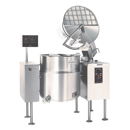 Cleveland MKEL100T 100 Gallon 2/3 Steam Jacket Design Electric Kettle/Mixer - 208-240V