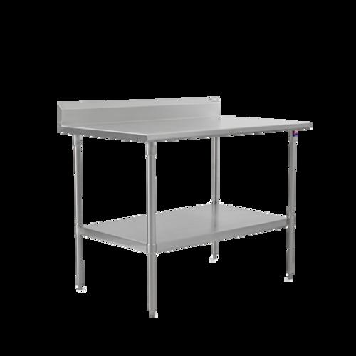 "John Boos ST6R5-30108SSK 108""W x 30""D Stainless Steel Work Table Backsplash"