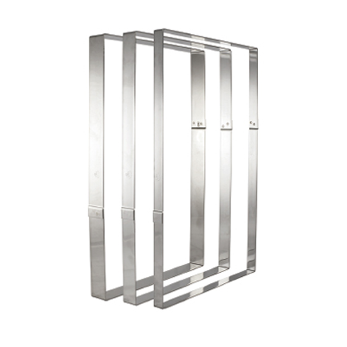 """Matfer Bourgeat 371003 22-3/4""""L x 15""""W x 1-3/8""""H Stainless Steel Rectangle Frame"""