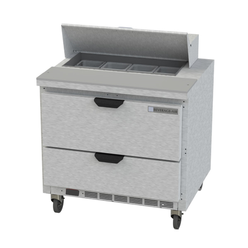 """Beverage Air SPED32HC-08-2 32"""" W One-Section Two Drawer Sandwich Top Refrigerated Counter"""