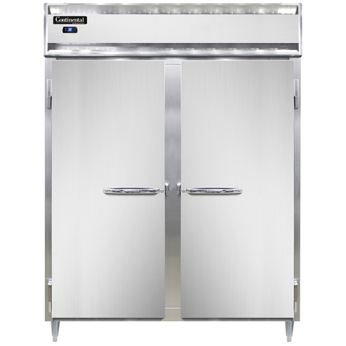 """Continental Refrigerator DL2RES 57"""" W Two-Section Solid Reach-In Designer Line Wide Refrigerator"""
