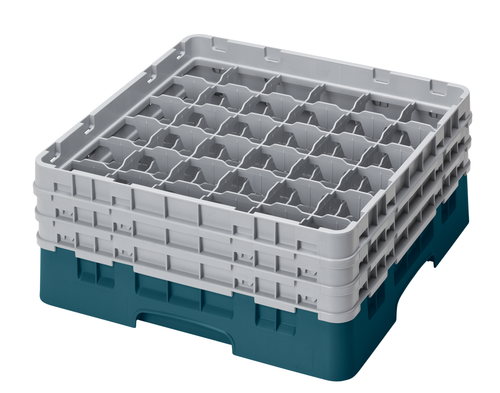 Cambro 36S638414 Camrack Glass Rack With (3) Soft Gray Extenders