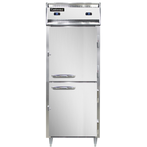 "Continental Refrigerator DL1RFES-SS-HD 28.5"" W One-Section Solid Door Reach-In Designer Line Refrigerator/Freezer"
