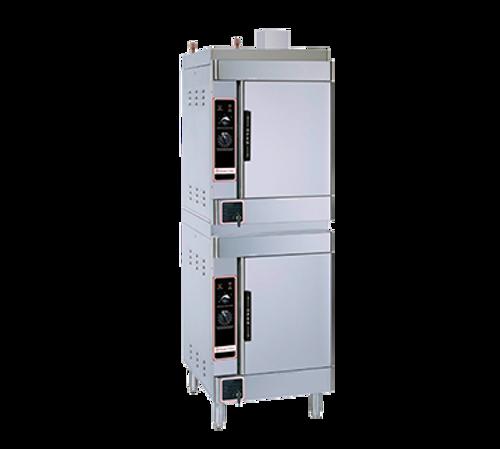 Market Forge SIRIUS II-12-LP (2) 6 Pan Liquid Propane Convection Steamer - 52,000 BTU