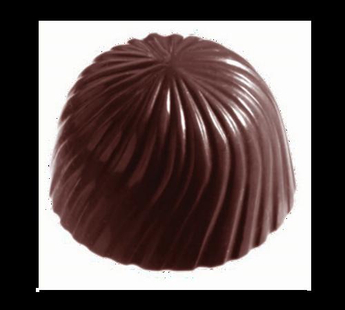 "Matfer Bourgeat 380152 Chocolate Mold Roses 5/8""H x 1-1/8"" Dia. Polycarbonate"