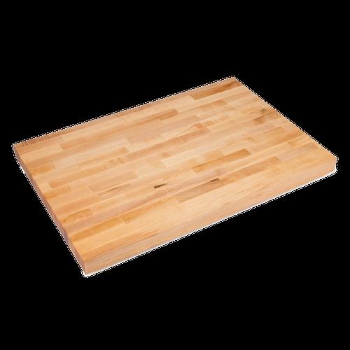 "John Boos BKSC49O 60""W x 36""D x 2-1/4"" thick Wood Work Table Top"