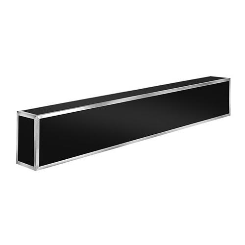 "Eastern Tabletop ST5950BK 66-5/8"" x 7-7/8"" x 11-7/8""H Black Stainless Steel Hub Buffet Bar Counter"