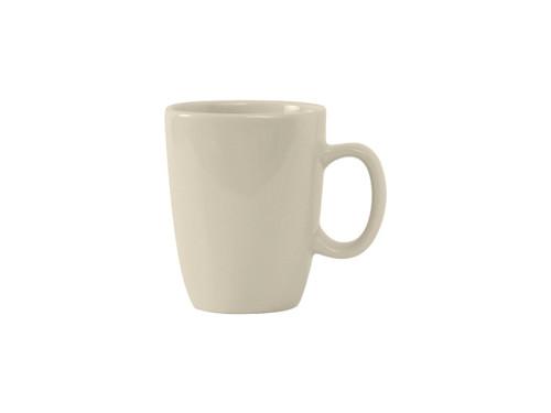 "Tuxton BEM-110M  3-1/4""  11 Oz.  Ceramic  American White/Eggshell  Safari Mug"