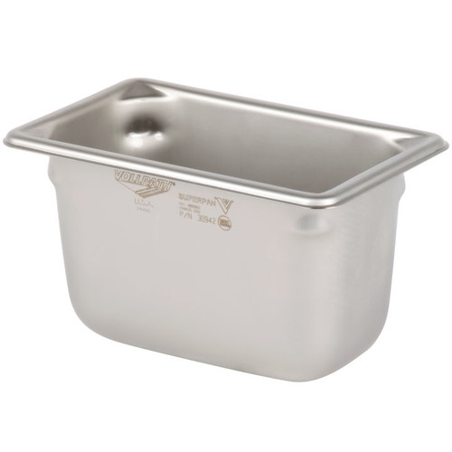 Vollrath 30942 Super Pan V Food Pan 1/9 Size