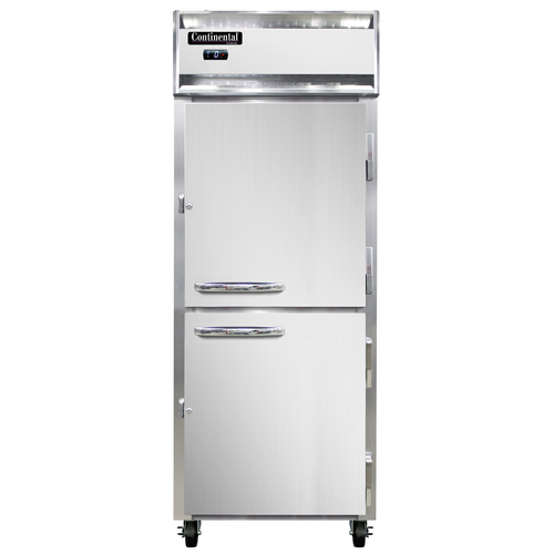 """Continental Refrigerator 1FE-SS-PT-HD 28.5"""" W One-Section Solid Door Pass-Thru Extra-Wide Freezer"""