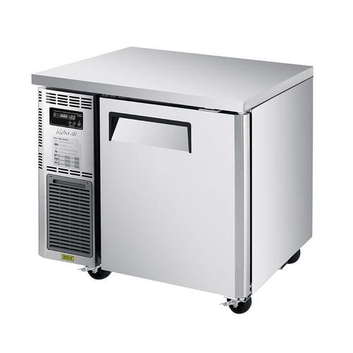 "Turbo Air JUR-36S-N6 35.38""W One-Section Stainless Steel Door Reach-In J Series Side Mount Undercounter Refrigerator"