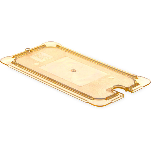 Carlisle 10477U13 Storplus High Heat Universal Lid For 1/3-Size Food Pan Amber