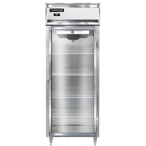 """Continental Refrigerator DL1RES-GD 28.5"""" W One-Section Glass Door Reach-In Designer Line Wide Refrigerator"""