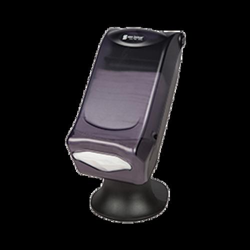 San Jamar H5005STBK Full Fold Countertop Napkin Dispenser Translucent Black Pearl
