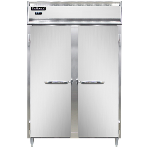 """Continental Refrigerator DL2F-SA 52"""" W Two-Section Solid Door Reach-In Freezer"""