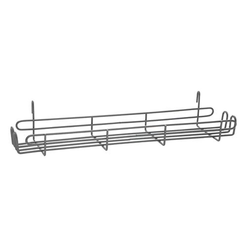 "Metro SR24K4 Smartwall Grid-Mount Spice Rack 22-1/2""W Metroseal Gray Epoxy-Coated Corrosion-Resistant Finish"